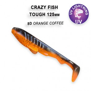 CRAZY FISH TOUGH 125MM lot de 5 pces