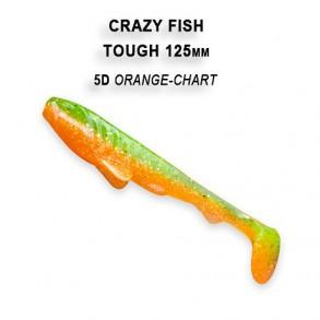 CRAZY FISH TOUGH 125MM lot de 5 pces