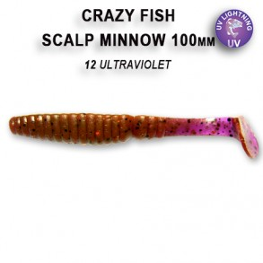 CRAZY FISH SCALP MINNOW 1m0mm lot de 4 pces