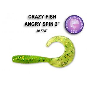 Crazy Fish Angri Spin 45mm lot de 8 pces