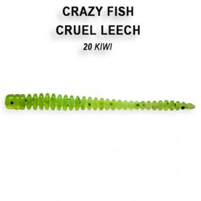 Crazy Fish Cruel Leech 55mm lot de 8 pces