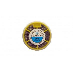 Boite distributrice grenailles fendue 70 gr