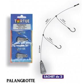 TORTUE PALANGROTTE 30GR / HAMECON 10 ET 12